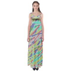 Crayon Texture Empire Waist Maxi Dress