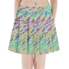 Crayon Texture Pleated Mini Skirt