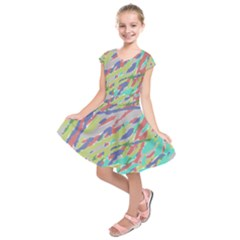 Crayon Texture Kids  Short Sleeve Dress