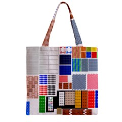 Texture Package Zipper Grocery Tote Bag