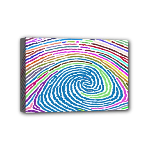 Prismatic Fingerprint Mini Canvas 6  x 4
