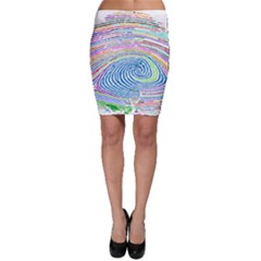 Prismatic Fingerprint Bodycon Skirt