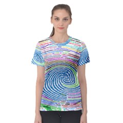 Prismatic Fingerprint Women s Sport Mesh Tee