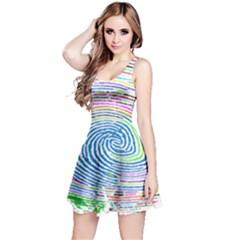 Prismatic Fingerprint Reversible Sleeveless Dress