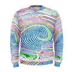 Prismatic Fingerprint Men s Sweatshirt