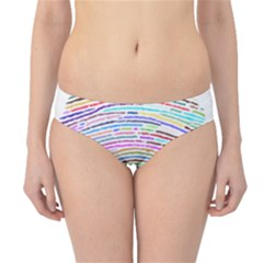 Prismatic Fingerprint Hipster Bikini Bottoms