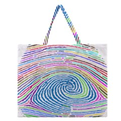 Prismatic Fingerprint Zipper Large Tote Bag