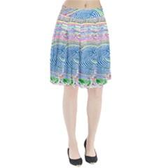Prismatic Fingerprint Pleated Skirt