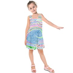 Prismatic Fingerprint Kids  Sleeveless Dress