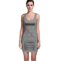 Square Rainbow Sleeveless Bodycon Dress