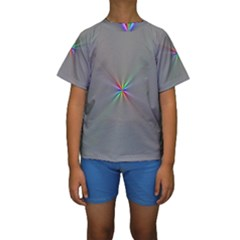 Square Rainbow Kids  Short Sleeve Swimwear