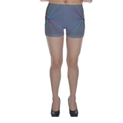 Square Rainbow Skinny Shorts