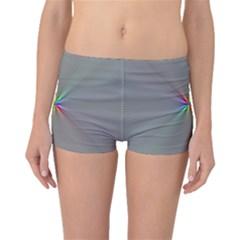 Square Rainbow Boyleg Bikini Bottoms