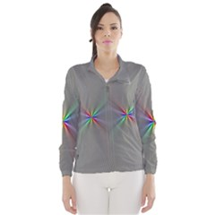 Square Rainbow Wind Breaker (women)