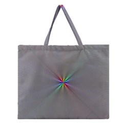 Square Rainbow Zipper Large Tote Bag