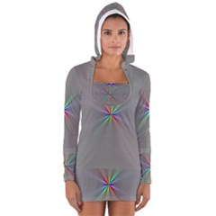 Square Rainbow Women s Long Sleeve Hooded T-shirt