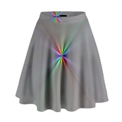 Square Rainbow High Waist Skirt