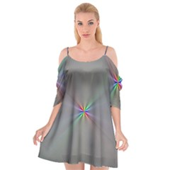 Square Rainbow Cutout Spaghetti Strap Chiffon Dress