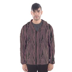 Grain Woody Texture Seamless Pattern Hooded Wind Breaker (men)