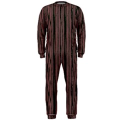 Grain Woody Texture Seamless Pattern Onepiece Jumpsuit (men)