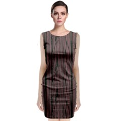 Grain Woody Texture Seamless Pattern Classic Sleeveless Midi Dress
