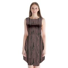 Grain Woody Texture Seamless Pattern Sleeveless Chiffon Dress