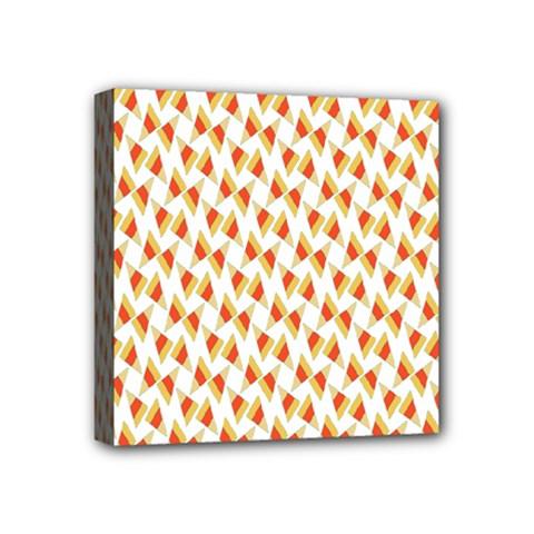 Candy Corn Seamless Pattern Mini Canvas 4  x 4
