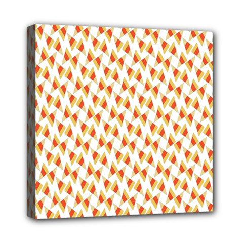 Candy Corn Seamless Pattern Mini Canvas 8  x 8