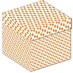 Candy Corn Seamless Pattern Storage Stool 12