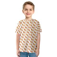 Candy Corn Seamless Pattern Kids  Sport Mesh Tee