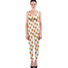 Candy Corn Seamless Pattern OnePiece Catsuit