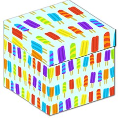Popsicle Pattern Storage Stool 12
