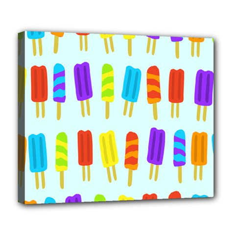 Popsicle Pattern Deluxe Canvas 24  X 20