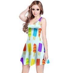 Popsicle Pattern Reversible Sleeveless Dress