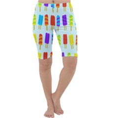 Popsicle Pattern Cropped Leggings