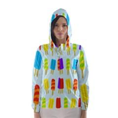 Popsicle Pattern Hooded Wind Breaker (Women)