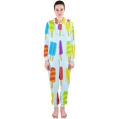 Popsicle Pattern Hooded Jumpsuit (ladies)