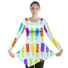 Popsicle Pattern Long Sleeve Tunic