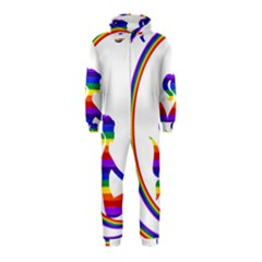 Rainbow Fairy Relaxing On The Rainbow Crescent Moon Hooded Jumpsuit (kids)