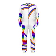Rainbow Fairy Relaxing On The Rainbow Crescent Moon Onepiece Jumpsuit (kids)
