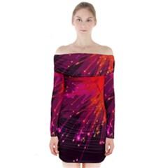 Big Bang Long Sleeve Off Shoulder Dress