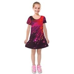 Big Bang Kids  Short Sleeve Velvet Dress