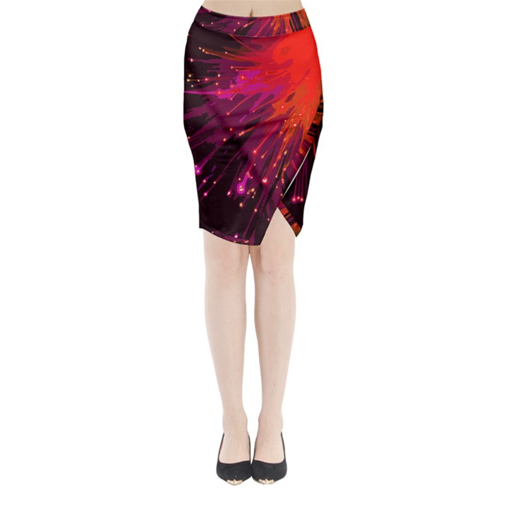 Big bang Midi Wrap Pencil Skirt