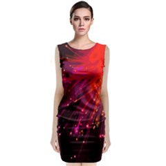 Big Bang Sleeveless Velvet Midi Dress