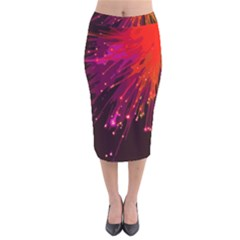 Big Bang Velvet Midi Pencil Skirt