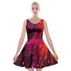 Big Bang Velvet Skater Dress