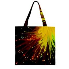 Big bang Zipper Grocery Tote Bag