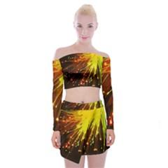 Big Bang Off Shoulder Top With Skirt Set