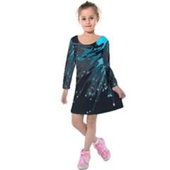 Big Bang Kids  Long Sleeve Velvet Dress