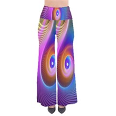 Abstract Fractal Bright Hole Wave Chevron Gold Purple Blue Green Pants